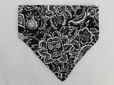 DOG CAT FERRET REVERSIBLE Over Collar Bandana~Sugar Skull Gothic Halloween Black