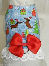 DOG CAT FERRET Travel Harness~Holiday Christmas Dachshunds Doxie BOW & LACE