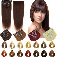 High 8 pcs 18 Clips Clip In Remy Human Hair Extensions Full Head Celebrate MX257