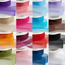Wholesale Organza Ribbon Rolls 50 Yards/46 meters Width 10mm 15mm 20mm 25mm 40mm