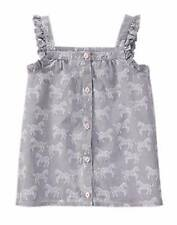 NWT Gymboree Girls Animal Party Grey Zebra Top Size 4 5 6 7 8 10 12