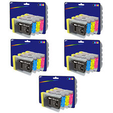 5 Sets of Compatible Printer Ink Cartridges for Brother LC970 / LC1000 Range