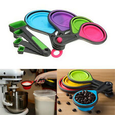 Safe Healthy Silicone Measuring Cups Spoon Kitchen Tool Collapsible Baking Cook0