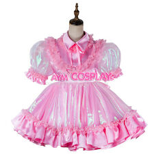 adult baby sissy Maid Satin-Organza Dress lockable Tailor-made[G2019]