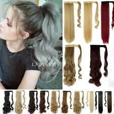 """24"""" 26"""" Wrap Around Ponytail Hair Extension Sexy Long Piece Clip In as human ln"""