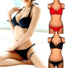 Sexy Women Bikini Set Strapless Push-up Bra Bathing Suit Padded Bandeau Swimsuit