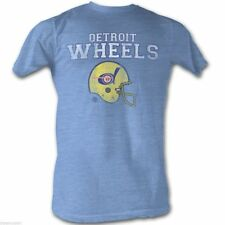 T-Shirts New World Football League Vintage Detroit Wheels Mens Tee Shirt in Blue
