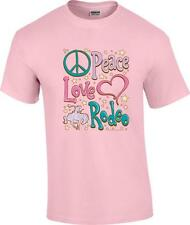 Peace Love Rodeo Horse Cowgirl T-Shirt