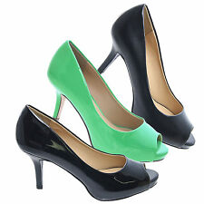 WriteH Classic Peep Toe Pump Platform Stiletto Heel Professional Dress