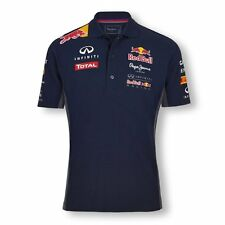 RED BULL RACING TEAMLINE COTTON MENS POLO SHIRT NAVY - SIZES S TO M