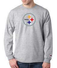 Pittsburgh Steelers Champion LONG SLEEVE T-Shirt Tagless T Shirt Mens Adult Tee