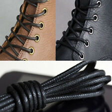 2 Pairs Waxed Round Shoe Laces Shoelace Bootlaces Leather Brogues 27.6''  FG