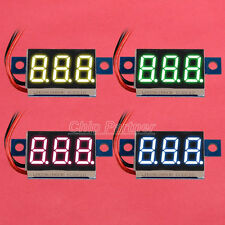 Yellow Blue Green Red LED Panel Meter Mini Digital Voltmeter DC3.3V-30V 20mA