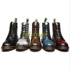 New Men's Retro Lace Up Oxford British Motorcycle Military Ankle Boots Shoes SZ