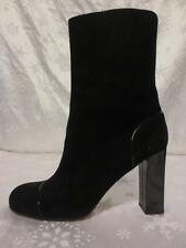 KATE SPADE Womens Gorgeous KIERSTEN Black SUEDE Patent Leather BOOTS Shoes 8 WOW