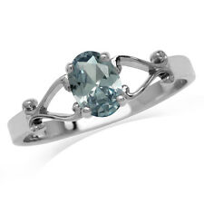 Simulated Alexandrite 925 Sterling Silver Victorian Swirl Solitaire Ring