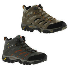 Merrell Moab Mid GTX Gore-Tex Mens Brown Grey Waterproof Walking Boots Size 8-14