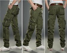 Mens Military Army Combat Trousers Casual Fashion  Work Camo Pants Cargo