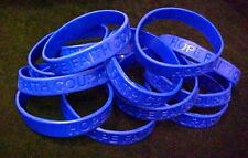 Dark Blue IMPERFECT Bracelets 12 Piece Lot Silicone Wristband Cancer Cause New
