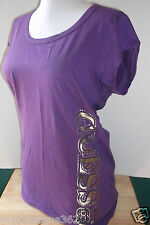 NEW WITH TAG GUESS  PURPLE TEE TOP WITH GUESS LOGO ON THE SIDE LQQK