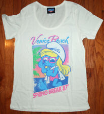 New Authentic Junk Food Smurfette Spring Break 1987 T-Shirt Size Small