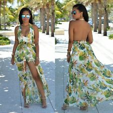 Boho Womens Sexy Chiffon Cocktail Party Wedding Beach Maxi Dress Sundress