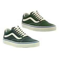 Vans Old Skool Mens Classic Green Blue Skate Shoes Trainers Size UK 8-12