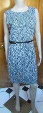 Philosophy Sleeveless Polyester Blend  Animal Lined Belted Dress NWT Sz  8 or 12