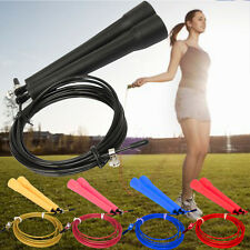 Utility 1Pcs Ultra Speed Cable Wire Adjustable Skipping Skip Jump Rope Crossfit