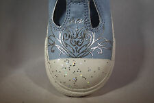 INFANT TODDLER Converse Chuck Taylor All Star Blue Silver Slip On Velcro strap