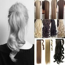 One piece Ponytail Real Clip in Hair Extensions Ombre Dip Dye as Human Hair Laz
