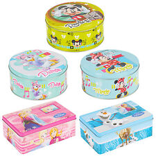 Kids Disney Design Lunch Cookie Jar Biscuit Tin Box Cupcake Storage Gift Set NEW