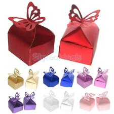 50PCS Butterfly Sweet Candy Cake Gift Boxes for Wedding Party Favor Boxes