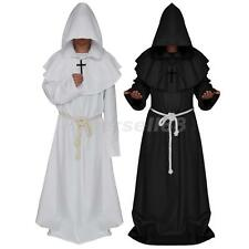 Monk Hooded Robe Friar Medieval Renaissance Priest Cosplay Fancy Dress Costume