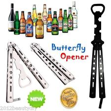 Practice Balisong Butterfly Trainer Dull Knife Style Beer Bottle Opener