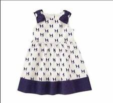 NWT Gymboree Girls Ciao Puppy Blue Dog Print Bow Dress Size 2T 3T & 4T