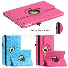 360 Rotating Leather Case Smart Cover Stand For iPad Air 2 2nd Cartoon Pattern