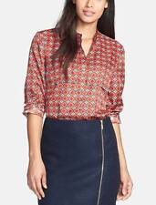 Anne Klein Blouse Women's Small Button Down Shirt Top Roll Sleeve Day To Evening