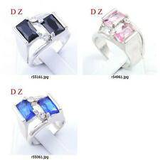 r549m23 Size Pick Women Engagement Costume Gemstone Zircon CZ Ring Handmade Gift
