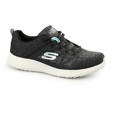 Skechers BURST Ladies Womens Sports Fitness Comfort Lace Up Trainers Black/White