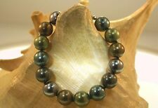 12mm Mixed Tahitian Mother of Pearl Round Sea Shell Pearl Clasped Bracelet SP #1