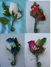 Rose Bud Corsage or Boutonniere your choice Wedding Groom Best man Prom 449