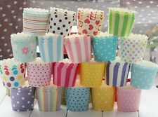 50PC Cake Baking Paper Cup Cupcake Liners Muffin Case Home Christmas Party us