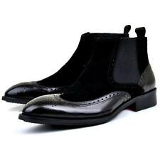 New US Size 5-11 Pointy Wingtip Leather Dress Mens Chelsea Ankle Boots Shoes