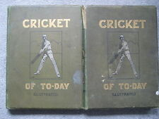 CRICKET OF TODAY...2 illustrated volumes....ANTIQUE CRICKET BOOKS
