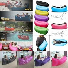 Air Sleeping Bag Waterproof Lounger Chair Fast Inflatable Camping Lazy Sofa Bed