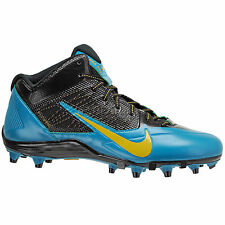 new-nike-alpha-pro-34-mid-td-football-cleats-nfl-jacksonville-jaguars-teal