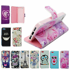 Stand Flip PU Leather Wallet Pouch Case Cover For Apple iPhone 6 Plus 6S 5 5S SE