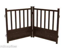 Free-Standing Indoor Dog & Pet Expandable Metal Safety Gate - Mocha Brown