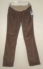 NEW $56 MOTHERHOOD Brown Corduroy MATERNITY PANTS jeans M L 8 10 12 14 NWT
